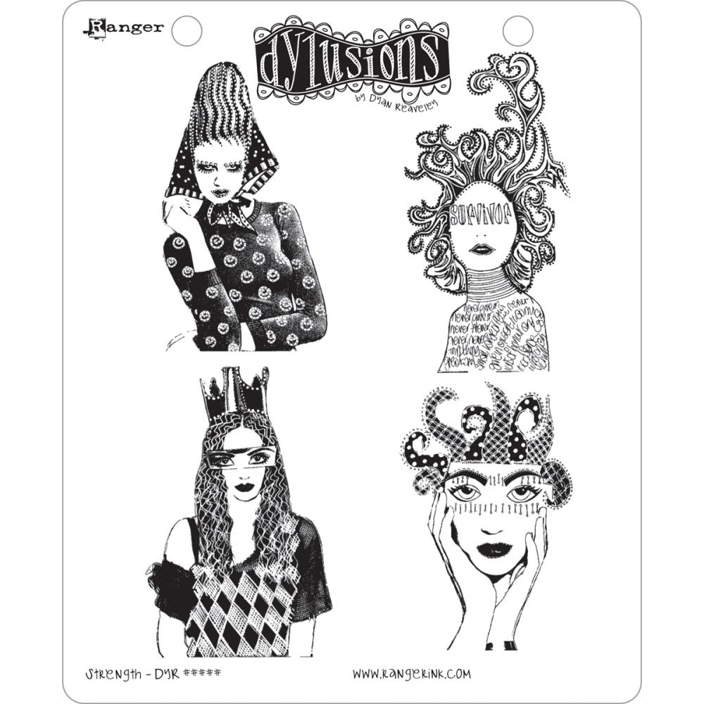 Dylusions Rubber Stamps Strength