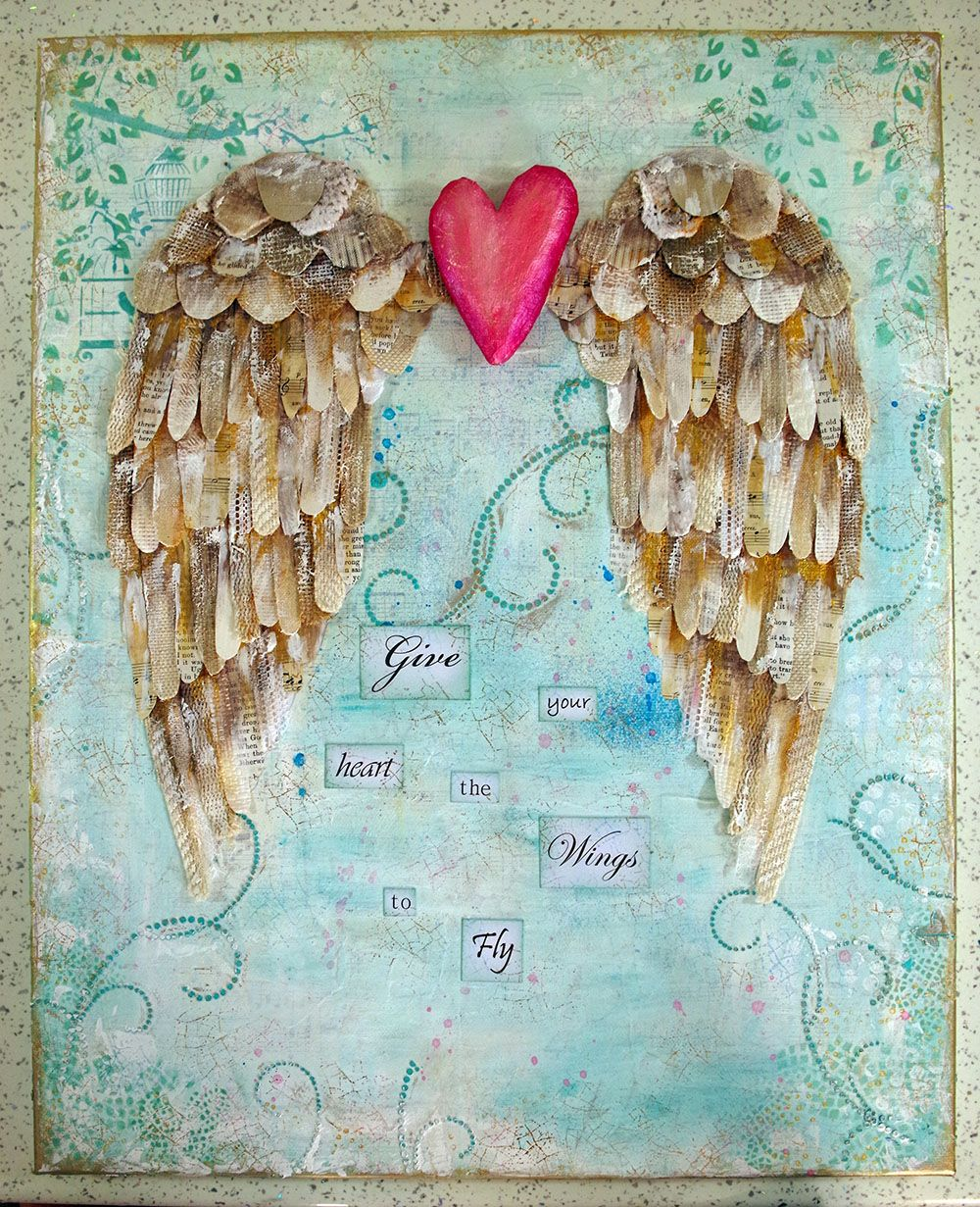 Image from for Mixed media canvas art ideas