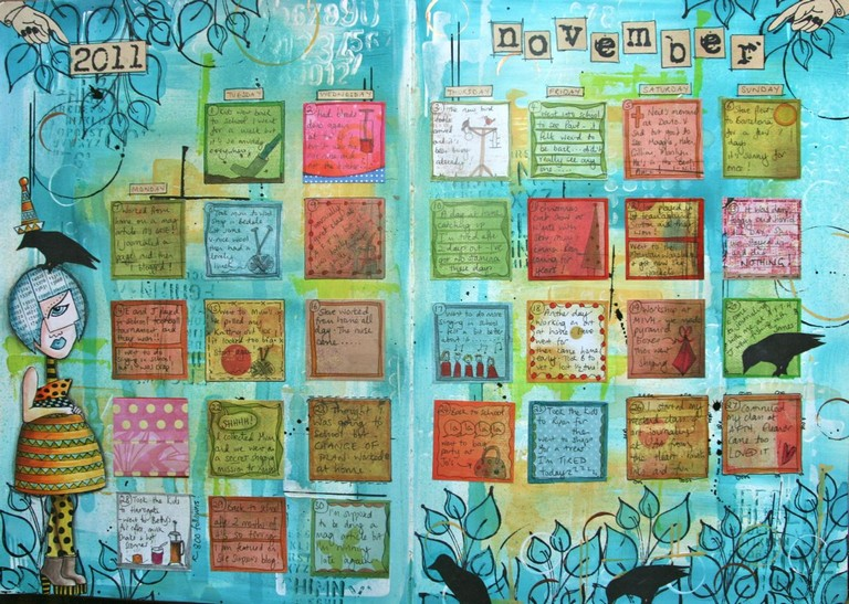 Contemporary Art Calendar Uk : Art calendar journaling with kate crane