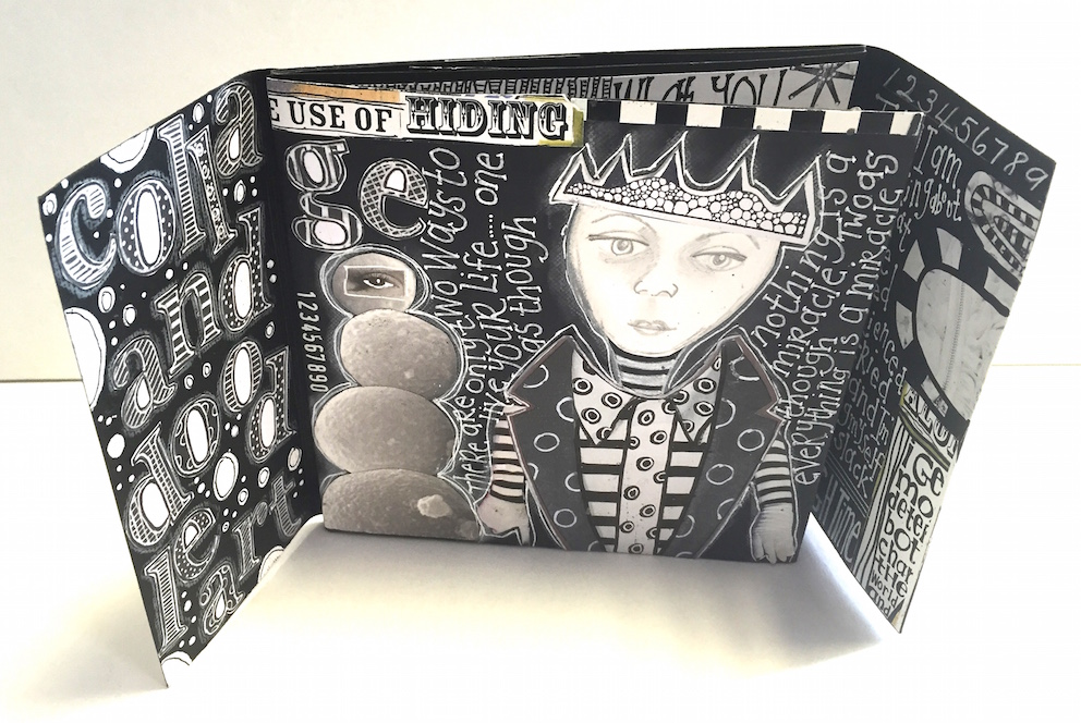 Black & White Collage + Doodle Journal with Sandra H