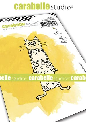 Carabelle Studio - Cling Stamp A7 - Little Kooky Cat by Kate Crane