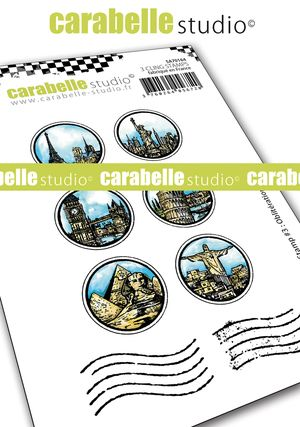 Carabelle Studio - Cling Stamp A7 - My Stamp #3 : Oblitérations