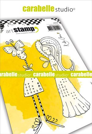 Carabelle Studio - Rubber Stamps - A6 - Angels by Kate Crane