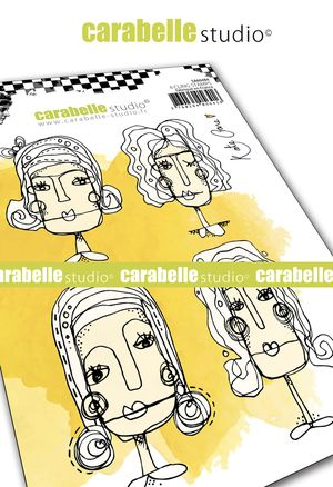 Carabelle Studio - Rubber Stamps - A6 - Face It! by Kate Crane