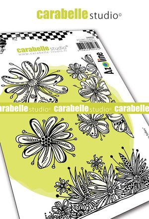 Carabelle Studio - Rubber Stamps - A6 - Fleurs folles by Azoline