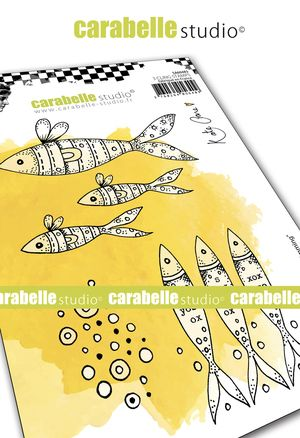 Carabelle Studio - Rubber Stamps - A6 - Just keep Swimming