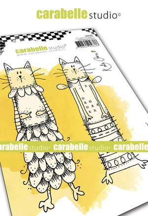 Carabelle Studio - Rubber Stamps - A6 - Kooky Cats by Kate Crane