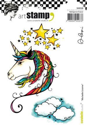 Carabelle Studio - Rubber Stamps - A6 - Ma Belle Licorne by Alexi