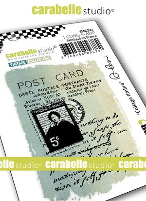 Carabelle Studio - Rubber Stamps - Small - Collage timbre by Alexi