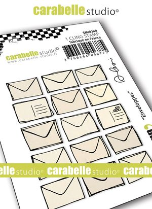 Carabelle Studio - Rubber Stamps - Small - Enveloppes by Alexi