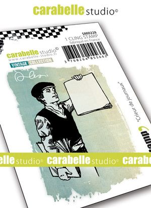 Carabelle Studio - Rubber Stamps - Small - Newsboy