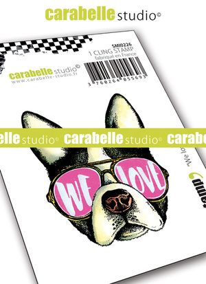 Carabelle Studio - Rubber Stamps - Small - We Love