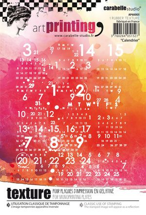 Carabelle  - Texture Printing Plate A6 - Calendrier