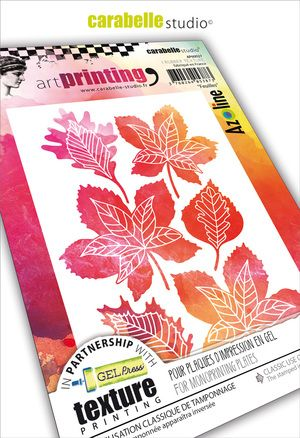 Carabelle  - Texture Printing Plate A6 - Feuilles by Azoline