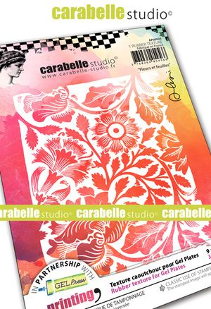 Carabelle  - Texture Printing Plate A6 - Flowers and leaves by Alexi