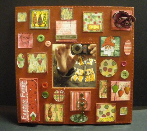 Christmas Patchwork Mirror