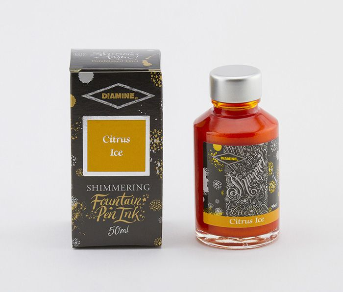 Diamine - Fountain Pen Ink - Shimmer  Ink 50ml - Citrus Ice