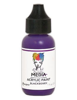 Dina Wakley Media - Acrylic Paints - 1oz Bottle - Blackberry