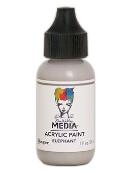Dina Wakley Media - Acrylic Paints - 1oz Bottle - Elephant