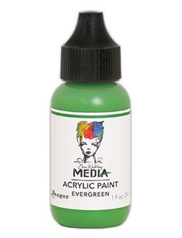 Dina Wakley Media - Acrylic Paints - 1oz Bottle - Evergreen
