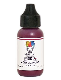 Dina Wakley Media - Acrylic Paints - 1oz Bottle - Fuchsia