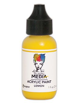 Dina Wakley Media - Acrylic Paints - 1oz Bottle - Lemon
