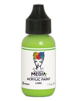 Dina Wakley Media - Acrylic Paints - 1oz Bottle - Lime