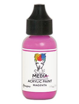 Dina Wakley Media - Acrylic Paints - 1oz Bottle - Magenta