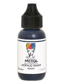 Dina Wakley Media - Acrylic Paints - 1oz Bottle - Night