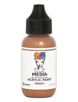 Dina Wakley Media - Acrylic Paints - 1oz Bottle - Penny