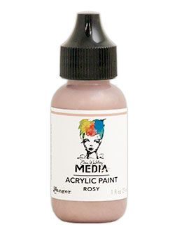 Dina Wakley Media - Acrylic Paints - 1oz Bottle - Rosy