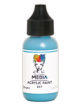 Dina Wakley Media - Acrylic Paints - 1oz Bottle - Sky