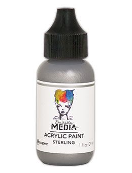 Dina Wakley Media - Acrylic Paints - 1oz Bottle - Sterling