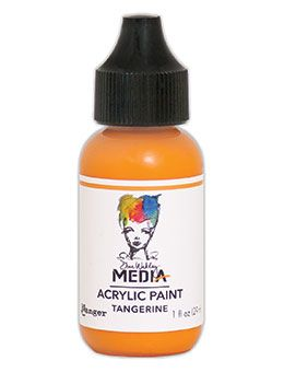 Dina Wakley Media - Acrylic Paints - 1oz Bottle - Tangerine
