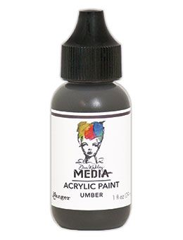 Dina Wakley Media - Acrylic Paints - 1oz Bottle - Umber