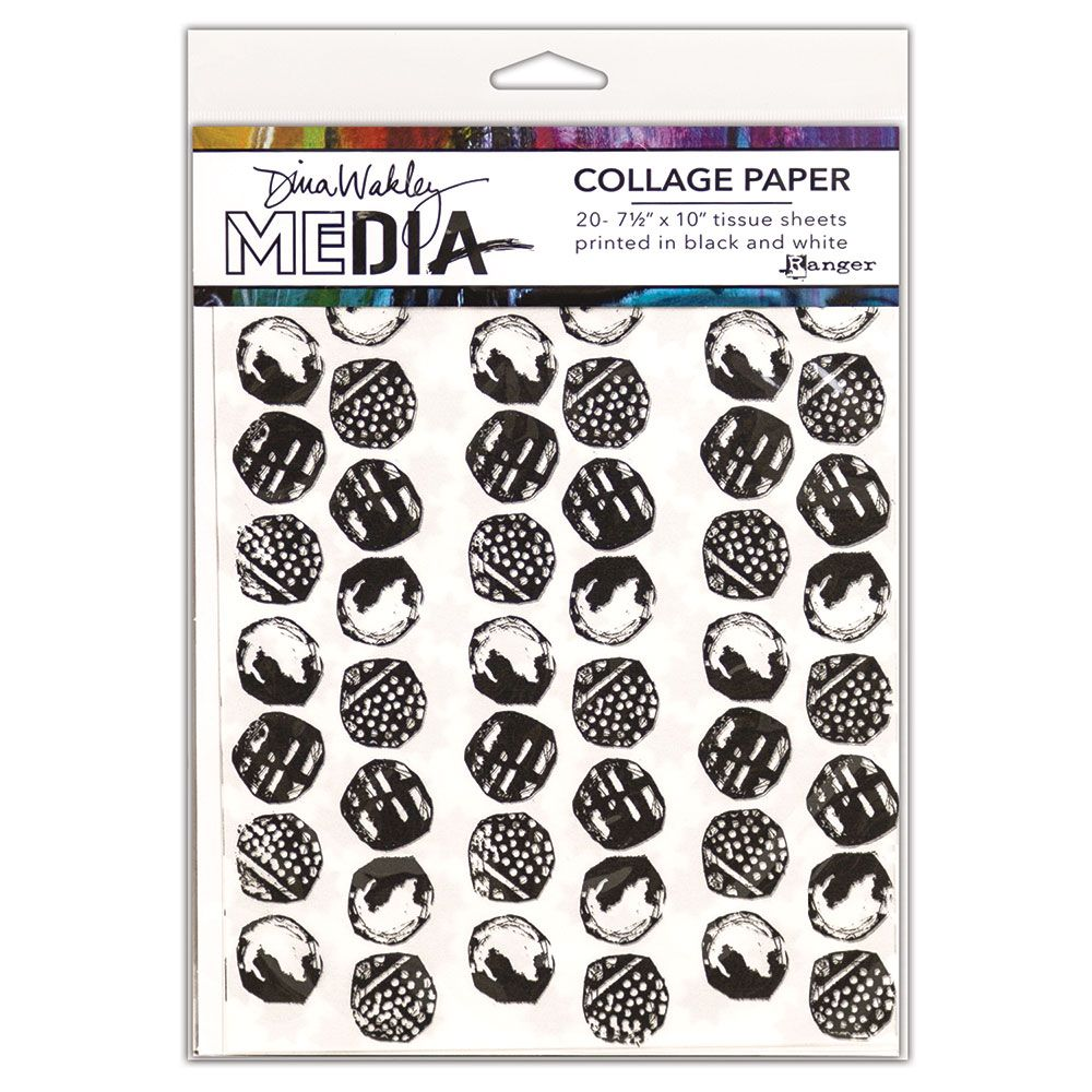 Dina Wakley Media - College Paper - Backgrounds