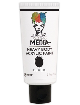 Dina Wakley Media - Heavy Body Acrylic - Black