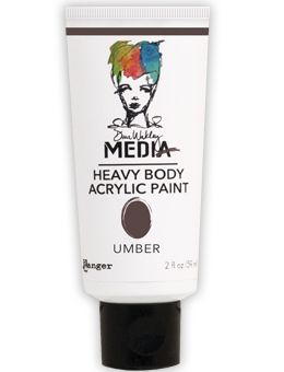 Dina Wakley Media - Heavy Body Acrylic - Umber