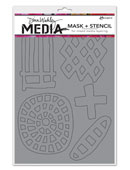 Dina Wakley Media - Mask&Stencil - Graphic Shapes