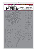 Dina Wakley Media - Mask&Stencil - Organic Shapes