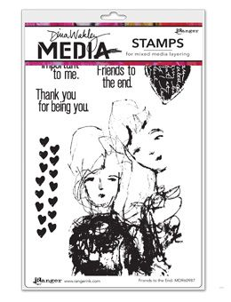 Dina Wakley Media - Rubber Stamp - Friends to the End