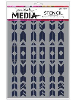 Dina Wakley Media - Stencil - Arrows