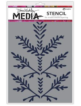 Dina Wakley Media - Stencil - Boughs