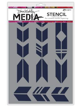Dina Wakley Media - Stencil - Grande Arrows