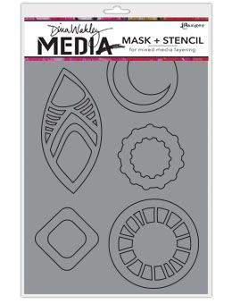 Dina Wakley Media - Stencil & Mask - Funky Masks