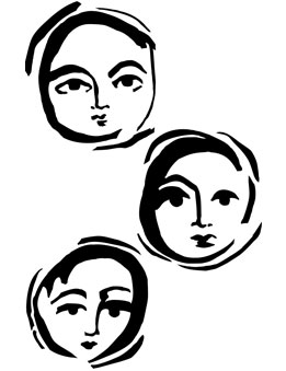 Dina Wakley Media - Stencil - Moon Faces