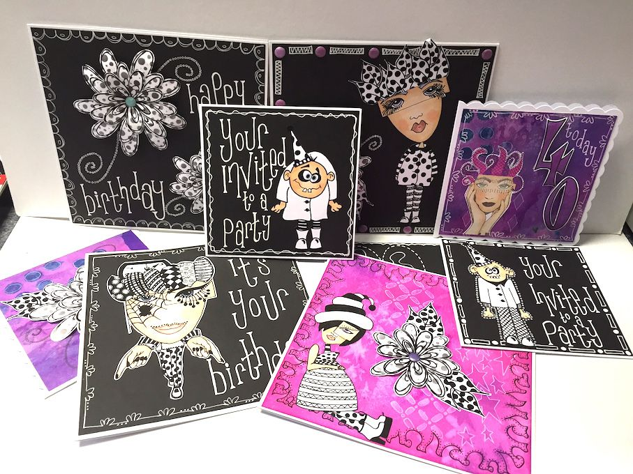 Dylusions Creative Cards by Sandra Botham