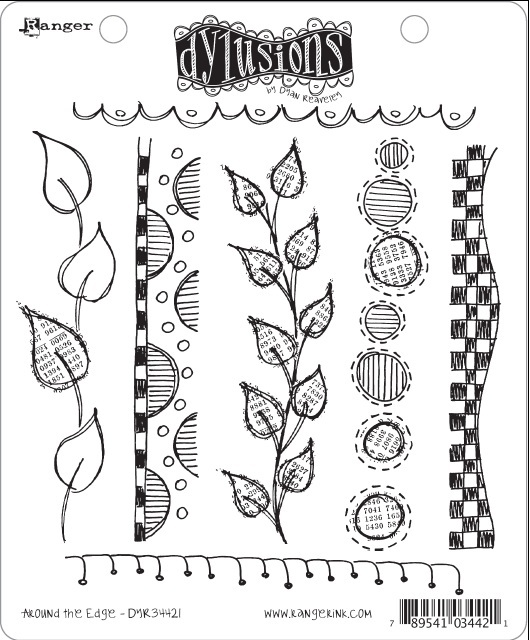 Dylusions - Rubber Stamps - Around the Edge