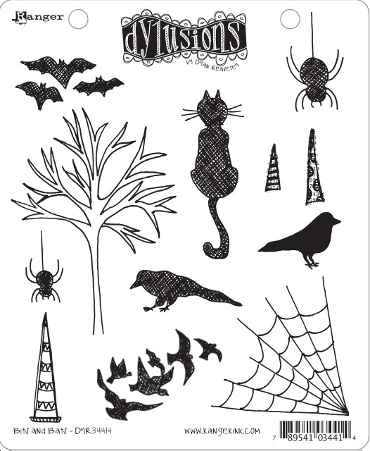 Dylusions - Rubber Stamps - Bits and Bats