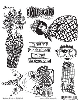 Dylusions - Rubber Stamps - Black Sheep